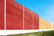 a highway noise barrier